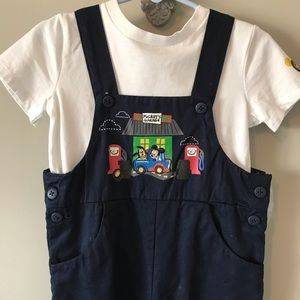 NWT Disney Mickey's Garage Overall Outift